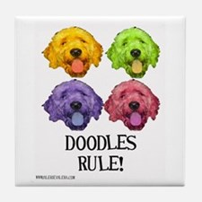 Doodles Rule Tile Coaster