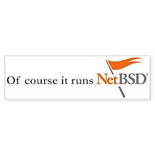 NetBSD Logo / Slogan Bumper Bumper Sticker
