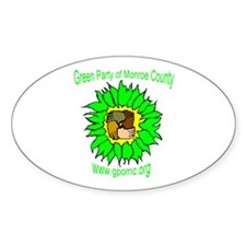 Green Party Oval Decal