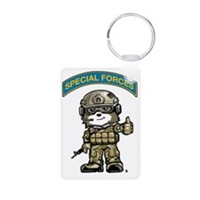 Cute Special forces Aluminum Photo Keychain