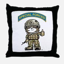 Cute Army ranger Throw Pillow