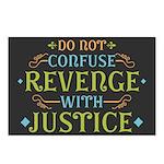 Revenge isn't Justice Postcards (Package of 8)
