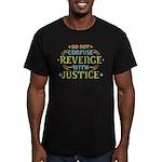 Revenge isn't Justice Men's Fitted T-Shirt (dark)