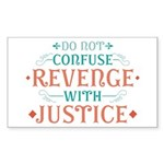 Anti Revenge Sticker (Rectangle)
