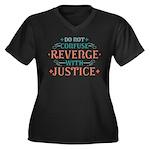 Anti Revenge Women's Plus Size V-Neck Dark T-Shirt