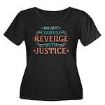 Anti Revenge Women's Plus Size Scoop Neck Dark T-S