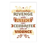 Justice Not Revenge Postcards (Package of 8)