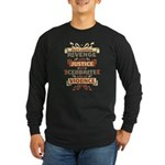 Justice Not Revenge Long Sleeve Dark T-Shirt