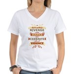 Justice Not Revenge Women's V-Neck T-Shirt