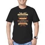 Justice Not Revenge Men's Fitted T-Shirt (dark)