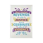 Don't Celebrate Violence Rectangle Magnet