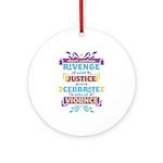 Don't Celebrate Violence Ornament (Round)