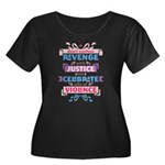 Confuse Revenge Women's Plus Size Scoop Neck Dark