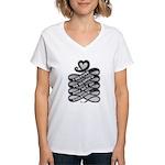 Refuse Glorify Violence Women's V-Neck T-Shirt