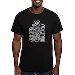 Refuse Glorify Violence Men's Fitted T-Shirt (dark