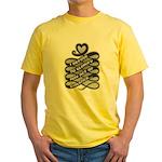 Refuse Glorify Violence Yellow T-Shirt