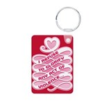 Pink Anti-Violence Aluminum Photo Keychain