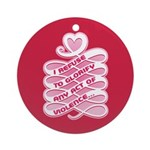 Pink Anti-Violence Ornament (Round)