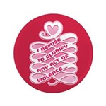 "Pink Anti-Violence 3.5"" Button"