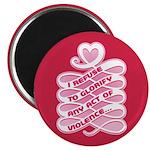 "Pink Anti-Violence 2.25"" Magnet (100 pack)"