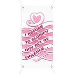 Pink Anti-Violence Banner