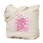 Pink Anti-Violence Tote Bag