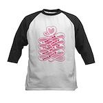 Pink Anti-Violence Kids Baseball Jersey