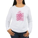 Pink Anti-Violence Women's Long Sleeve T-Shirt