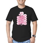Pink Anti-Violence Men's Fitted T-Shirt (dark)