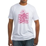 Pink Anti-Violence Fitted T-Shirt
