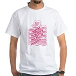 Pink Anti-Violence White T-Shirt