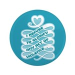 "No Glorifying Violence 3.5"" Button (100 pack)"