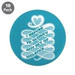 "No Glorifying Violence 3.5"" Button (10 pack)"