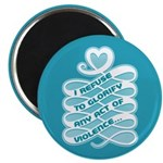 "No Glorifying Violence 2.25"" Magnet (10 pack)"