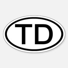 TD - Initial Oval Oval Decal
