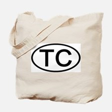 TC - Initial Oval Tote Bag