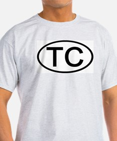 TC - Initial Oval Ash Grey T-Shirt