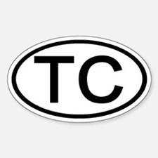 TC - Initial Oval Oval Decal