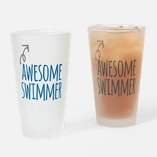 Awesome swimmer Drinking Glass