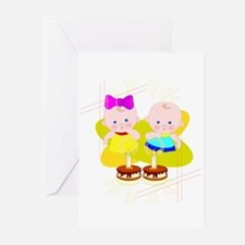 Twin Birthday Greeting Cards (Pk of 10)