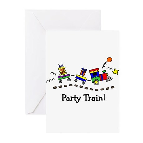 Party Train Greeting Cards (Pk of 10)