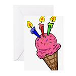 I'm 3 Ice Cream Greeting Cards (Pk of 10)