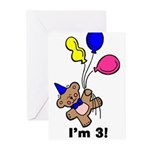 I'm 3 Bear Greeting Cards (Pk of 10)