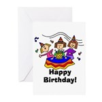 Birthday Singers Greeting Cards (Pk of 10)