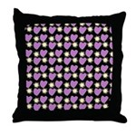 Purple Love Fireworks Throw Pillow
