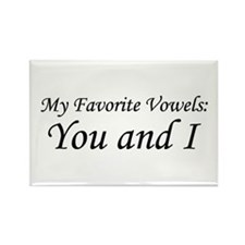 """""""Vowels: You and I"""" Rectangle Magnet (100 pack)"""