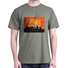 """""""Pentagram Moon Over Stonehenge"""" T-Shirt"""