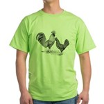 California Grey Chickens Green T-Shirt