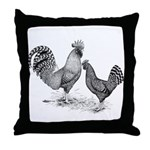 California Grey Chickens Throw Pillow