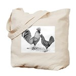California Grey Chickens Tote Bag